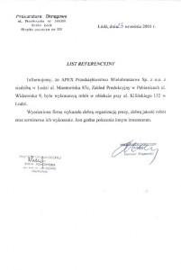 list referencyjny 7