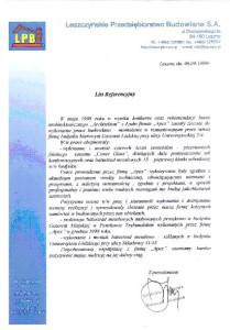 list referencyjny 9