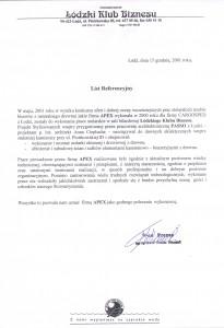 list referencyjny 14