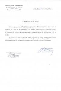 list referencyjny 16