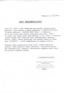 list referencyjny 18