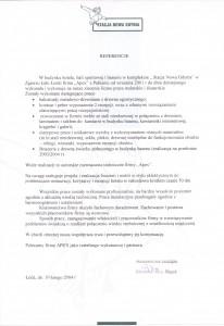 list referencyjny 12